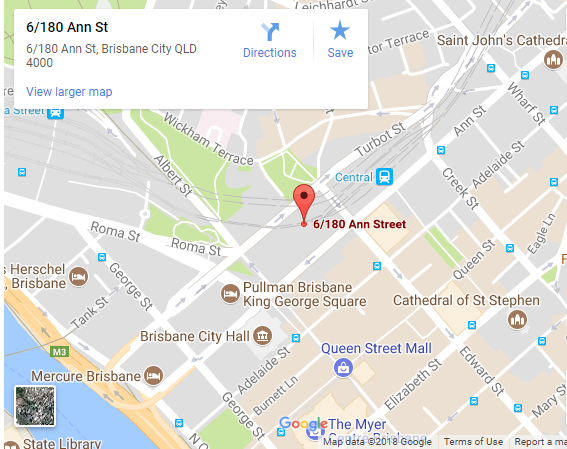 Map of our Ann street office