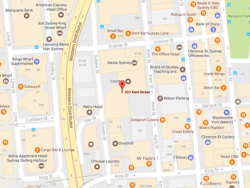 Map of our Kent Street office